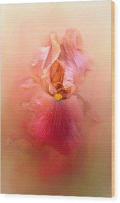 Valentine Iris Wood Print