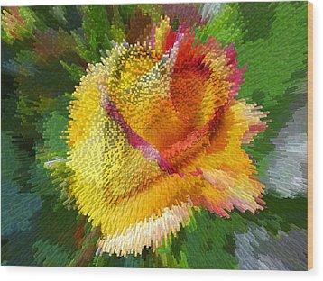 Valentine Rose Wood Print by Anne Mott