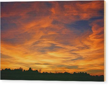 Valentine Sunset Wood Print by Tammy Espino