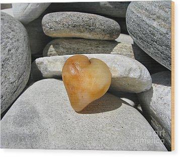 Valentine's Day - Precious Heart Wood Print by Daliana Pacuraru