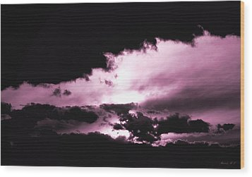 Wood Print featuring the photograph Valkyrie Sky by Amanda Holmes Tzafrir