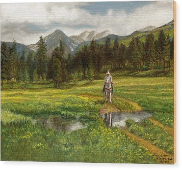Vallecito Meadows Wood Print by Harriett Masterson