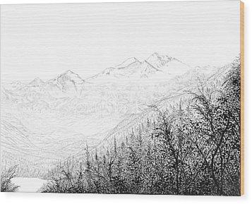 Valley Wood Print