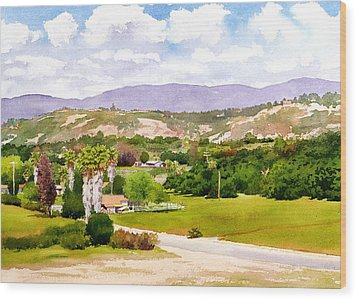 Valley Center California Wood Print by Mary Helmreich