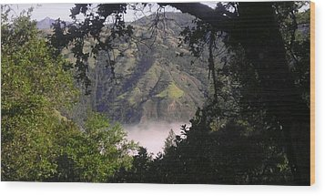 Valley Fog Wood Print by Justin Moranville