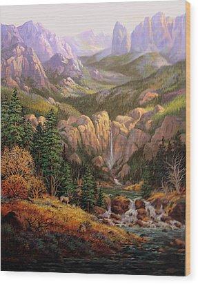 Valley King Wood Print by W  Scott Fenton