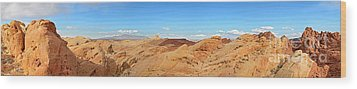 Valley Of Fire Pano Wood Print by Jane Rix