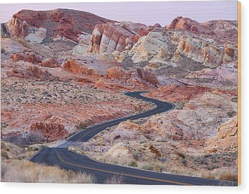 Valley Of Fire Road Wood Print