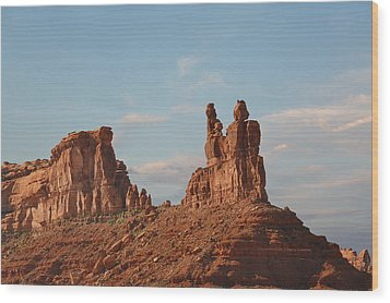 Valley Of The Gods - Escape From Civilization Wood Print by Christine Till