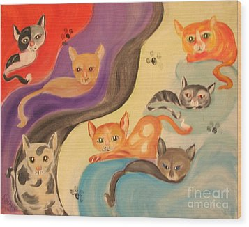 Valley Of The Kittens Wood Print by Rachel Carmichael