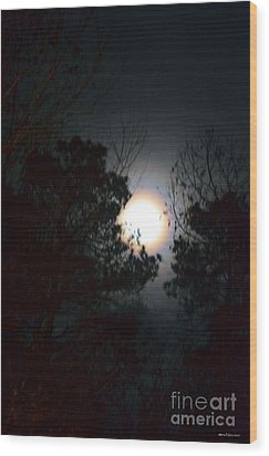 Valley Of The Moon Wood Print by Maria Urso