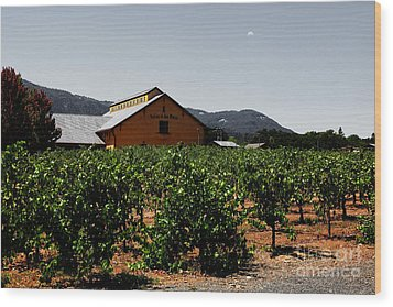 Valley Of The Moon Sonoma California 5d24485 V2 Wood Print by Wingsdomain Art and Photography