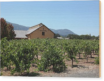 Valley Of The Moon Winery In The Sonoma California Wine Country 5d24485 Wood Print by Wingsdomain Art and Photography