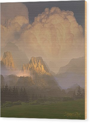 Valley Of The Shadow Of Life Wood Print by Dieter Carlton