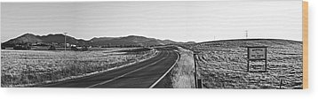 Valley Springs Road Panorama Wood Print by Lennie Green