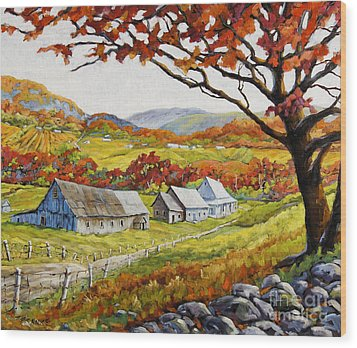 Valley View By Prankearts Wood Print by Richard T Pranke