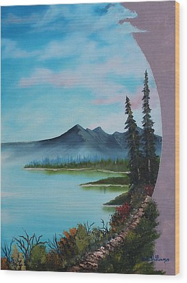 Valley Vignette Wood Print by Bob Williams