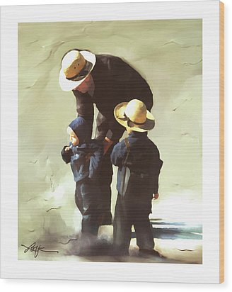Wood Print featuring the painting Value Your Children by Bob Salo