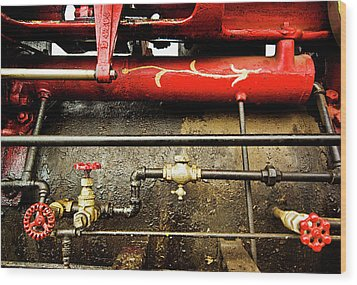 Valves Lines And Tanks Wood Print
