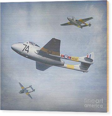 Vampire Jet II Wood Print by Roy  McPeak