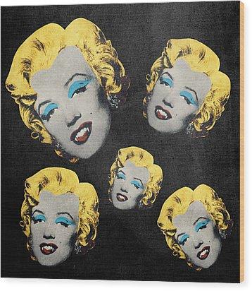 Vampire Marilyn 5 Wood Print by Filippo B