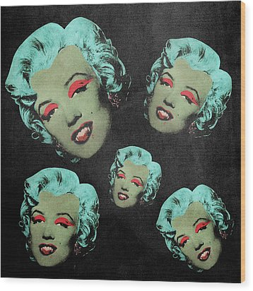 Vampire Marilyn 5a Wood Print by Filippo B