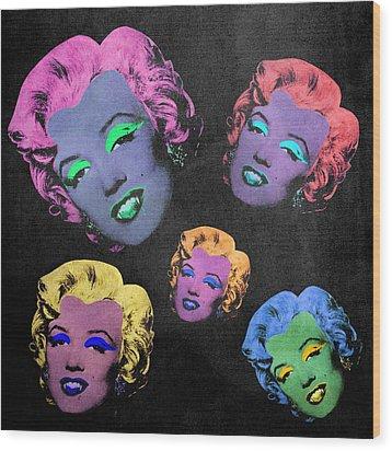 Vampire Marilyn 5b Wood Print by Filippo B