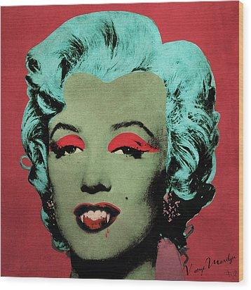 Vampire Marilyn Variant 1 Wood Print by Filippo B