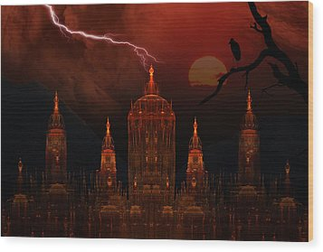 Vampire Palace Wood Print