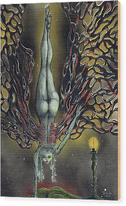 Vampire Secrets Wood Print by Kenneth Clarke