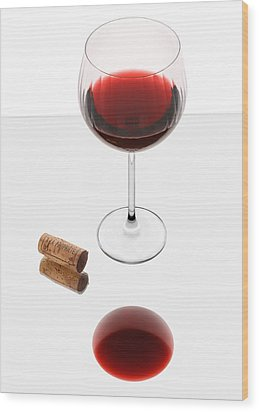 Vampire Wine Glass Wood Print by Dennis James