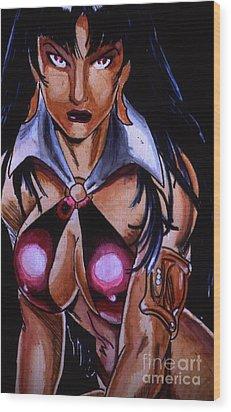 Vampirella Wood Print by Bill Richards