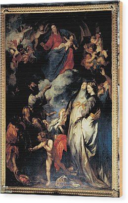 Van Dyck Anton O Antoon, Madonna Wood Print by Everett