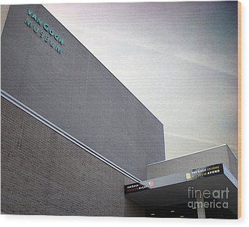 Wood Print featuring the photograph Van Gogh Museum Exterior by Michael Edwards