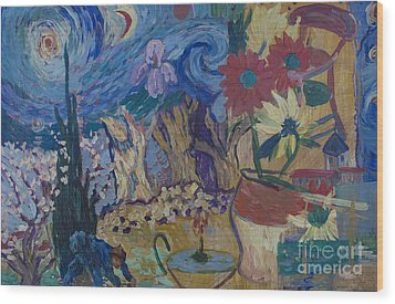 Wood Print featuring the painting Van Gogh Spirit by Avonelle Kelsey