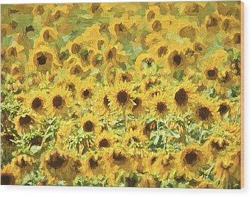 Van Gogh Sunflowers Wood Print