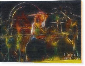 Van Halen-alex-93-gc5-fractal Wood Print by Gary Gingrich Galleries