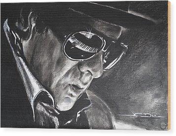 Van Morrison -  Belfast Cowboy Wood Print by Eric Dee