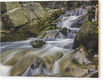 Van Trump Creek Mount Rainier National Park Wood Print
