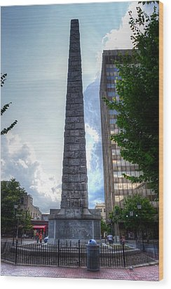 Vance Monument Asheville North Carolina Wood Print
