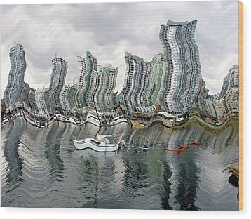 Vancouver Abstracted Wood Print by Gerry Bates