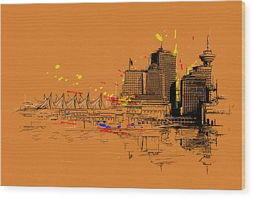 Vancouver Art 006 Wood Print by Catf