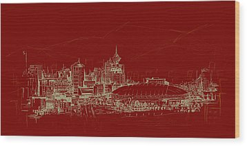 Vancouver Art 007 Wood Print by Catf