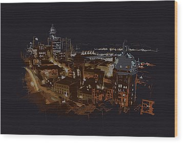 Vancouver Art 009 Wood Print by Catf