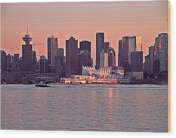Vancouver Bc Wood Print by Brian Chase