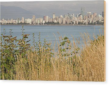 Wood Print featuring the photograph Vancouver Bc Downtown From Hasting Mills Park by JPLDesigns