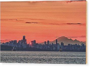 Vancouver Bc Morning Wood Print