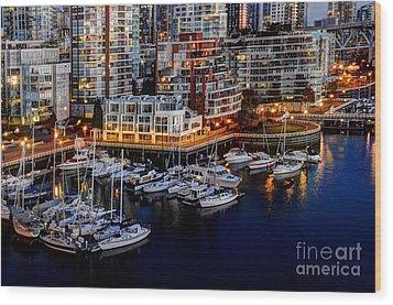 Vancouver British Columbia 10 Wood Print by Bob Christopher