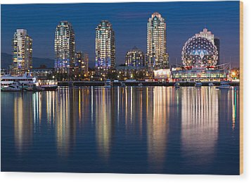 Vancouver Postcard Wood Print by Alexis Birkill