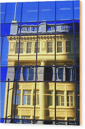 Vancouver Reflections 2 Wood Print by Randall Weidner